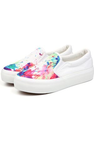 Newchic M.GENERAL Breathable Colorful Slip On Lazy Canvas Casual Shoes For Women