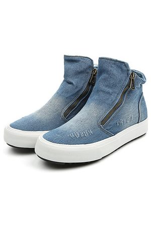 Newchic M.GENERAL Denim High Top Zipper Casual Shoes