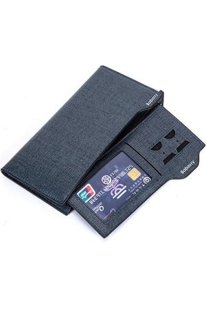 Newchic PU Leather Bifold Wallet 17 Card Slots Casual Business Card Pack Coin Bag For Men