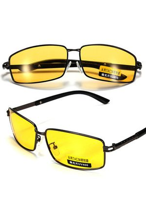 a2f1449d13 Newchic Men Sunglasses - Yellow Lens Polarized UV 400 Sunglasses Night  Vision Sport Shade Glasses Goggles