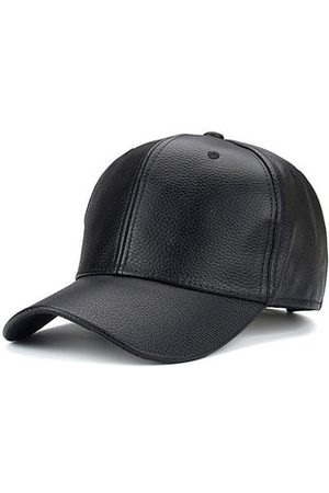 Newchic Men Grain PU Leather Baseball Cap Casual Outdoor Sports Sun Hats Adjustable Windproof Duck Hats
