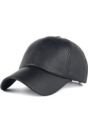 Newchic Men Sunshade PU Leather Baseball Cap Outdoor Breathable Mesh Golf  Hat 2b4d08c63b68