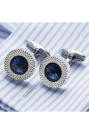 Newchic Men Austrian Crystal Cufflinks Wedding Party Suit Geometrical Cufflinks