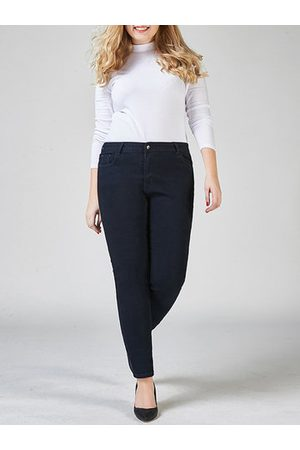 Newchic Women Stretch - High Waist Pocket Stretch Jeans
