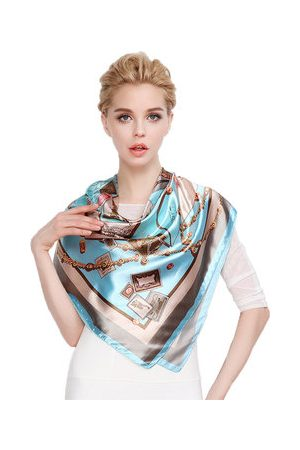 Newchic Women Scarves - LYZA Women Print Square Scarves Fashion Anti-UV Headscarf Multi-function Hair Belts Soft Towel