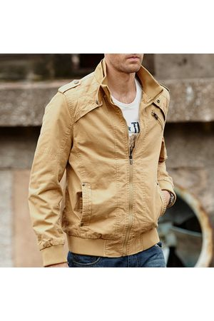 Newchic Plus Size Loose Stand Collar Outdoor Jackets for Men