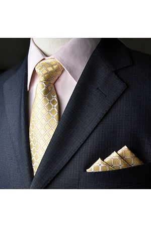 Newchic Men Tie And Pocket Towel Suit Business Formal Jacquard Ties