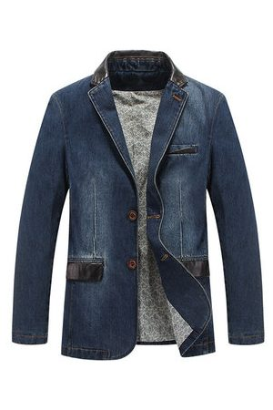 Newchic Men Outdoor Jackets - Outdoor Stylish Denim Jackets Blazers