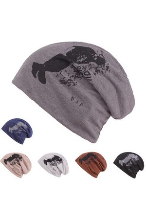 Newchic Mens Unisex Cotton Printed Bonnet Beanies Hats Outdoor Ear  Protection Warm Skullies Hat 5d13aa38139a