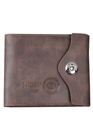 Newchic PU Leather Bifold Wallet 6 Card Slots Casual Vintage Card Pack Coin Bag Purse For Men