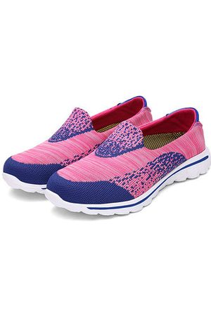 781a926b56498 Newchic Color Match Comfortable Mesh Slip On Lazy Flat Casual Shoes