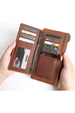 Newchic Men Wallets - Genuine Leather Bifold Wallet Casual Vintage 10 Card Slots Card Pack Purse For Men