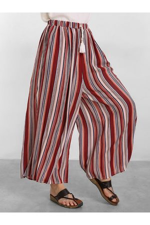 Newchic Striped Printed Wide Legs Pants