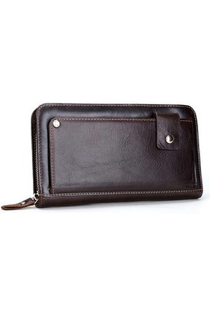 Newchic Genuine Leather Wallet 13 Card Slots Business Vintage Card Pack Clutch Bag For Men