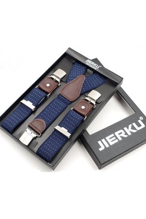 Newchic 120CM Mens Casual Three Clip-on Braces High Elastic Slim Y-back Suspenders