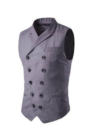 Newchic Double Breasted Waistcoats for Men