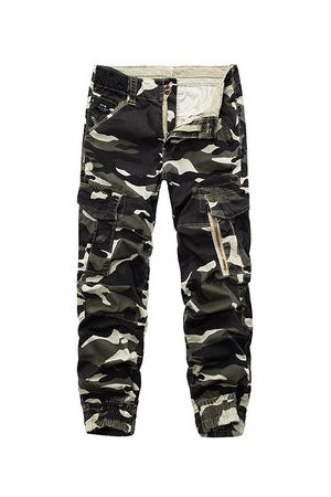 Newchic Men Cargo Pants - Mens Camouflage Multi Pockets Casual Cotton Cargo Pants