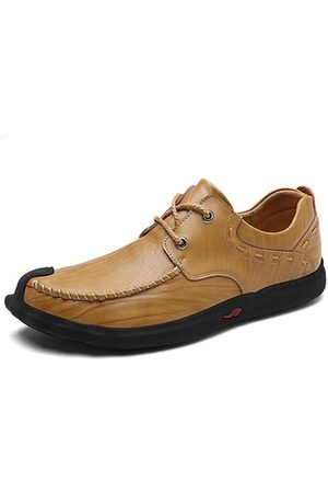 b3fbfdaf4 Newchic Men Stylish Cap Toe Soft Sole Lace Up Casual Leather Shoes