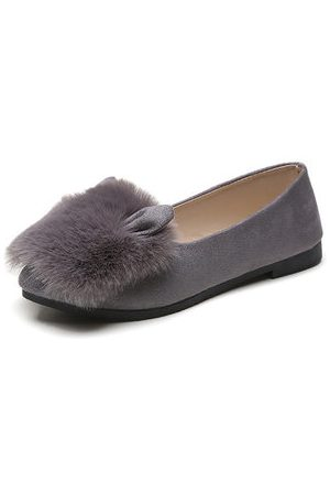 Newchic Women Loafers - Rabbit Fur Loafers For Women