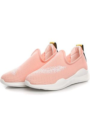 Newchic Mesh Breathable Candy Color Portable Sport Running Female Flat Shoes