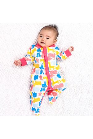 Newchic Baby Rompers - TUBENG Baby Colorful Print Button Long Sleeve Crawling Rompers