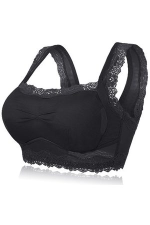 de4f427675 Newchic Comfortable Lace-trim Full Coverage Breathable Gather Bra