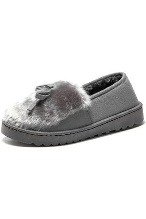 Newchic Warm Fur Lining Suede Loafers