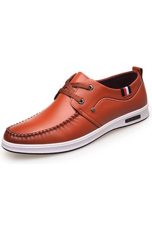 Newchic Men British Style Microfiber Leather Lace Up Business Casual