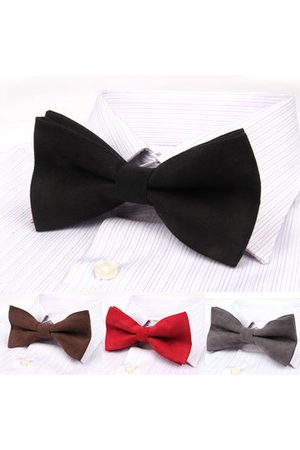 Newchic Men Casual Color Double Layer Bowknot Formal Suit Corduroy Bow Tie