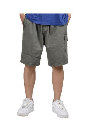 Newchic Men Cargo Pants - Mens Plus Size Multi-pocket Solid Color Loose Fit Casual Cotton Cargo Shorts