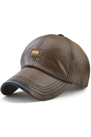 Newchic Men PU Leather Vintage Baseball Cap Outdoor Windproof Cap