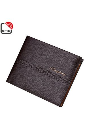Newchic RFID Antimagnetic Card Pack PU Leather 6 Card Slots Casual Vintage Bifold Wallet For Men