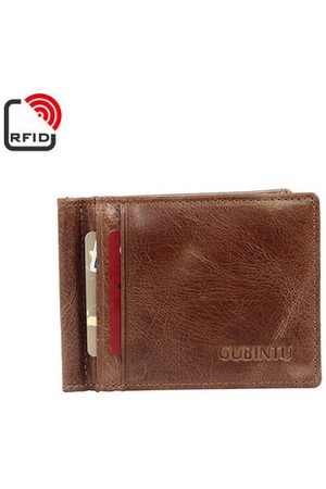 Newchic Men Wallets - RFID Antimagetic Genuine Leather Bifold Wallet 8 Card Slots Casual Vintage Card Pack Purse For Men