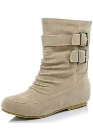 Newchic Suede Fur Lining Casual Mid Calf Boots