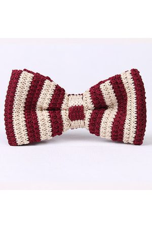 Newchic Men Fashion Knitted Stripe Bowties Long Adjustable Ties Wedding Party Bowties