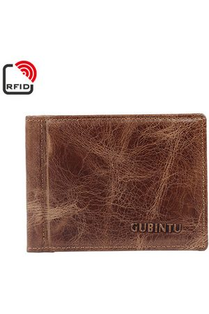 Newchic RFID Antimagetic Genuine Leather Bifold Wallet 7 Card Slots Vintage Card Pack Purse For Men