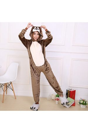 Newchic Comfy Flannel Cartoon Animal Conjoined Pajamas