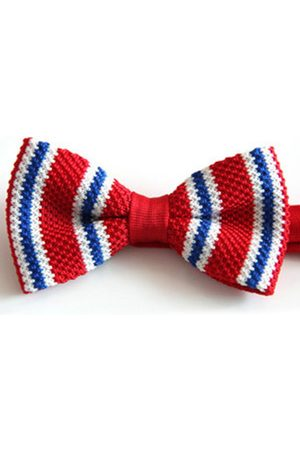 Newchic Men Casual Knitted Stripes Bowknot British Style Wedding Fabrics Bow Tie