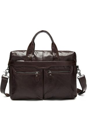 Newchic Genuine Leather Business Briefcase Handbag For Men