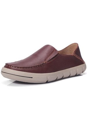 Newchic Men Genuine Leather Soft Loafers Casual Shoes