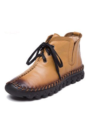 Newchic SOCOFY Genuine Leather Soft Boots