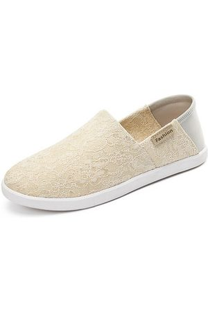 Newchic Lace Canvas Slip On Soft Flat Casual Shoes