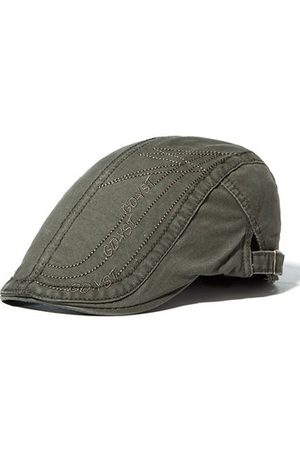 Newchic Mens Cotton Letter Embroidery Berets Hats Casual Sport Visor Work Forword Caps