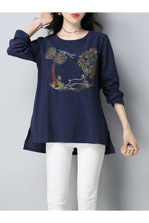 Newchic Vintage Embroidered Women T-shirts