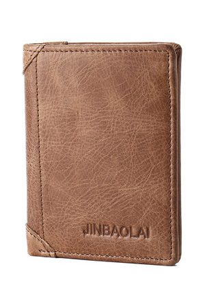 Newchic Genuine Leather Bifold Wallet Vintage Card Pack For Men