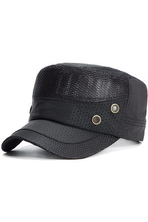 Newchic Men Classic Mesh Breathable Military Hat Outdoor Sunscreen Flat Cap Travel Visor Hat