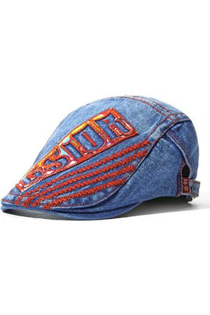 Newchic Men Hats - Washed Denim Beret Cap Travel British Style Hat