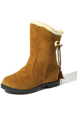 Newchic Women Ankle Boots - Butterfly Knot Ankle Fur Lining Boots For Women