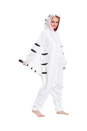 Newchic Women Nightdresses & Shirts - Cute Cartoon Tiger Footed Pajama Cosplay Unisex Sleepwear