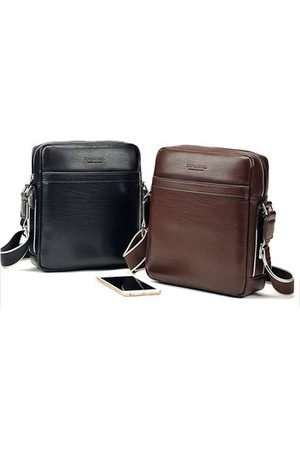 Newchic Men Laptop Bags - PU Leather Business Water-resistant Crossbody Bag For Men